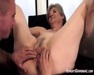 Licking A Real Horny Granny Snatch - scene 7