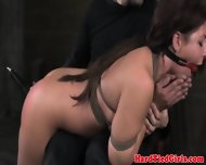 Ball Gag Brunette Bent Over And Spanked - scene 11