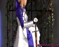 Cosplay Fsn Saber Enjoys Creampie