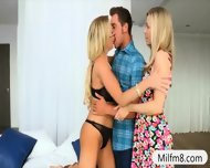 Stepmom And Teen Girl Horny Threesome With Nasty Dude - scene 1