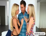 Stepmom And Teen Girl Horny Threesome With Nasty Dude - scene 2