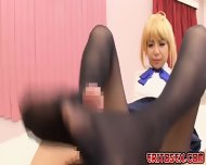 Japanese Girls Nice Footjob On Dude S Big Hard Cock And Cums - scene 8