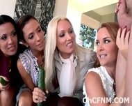 Hot Horny Ladies Share A Swollen Cock - scene 1