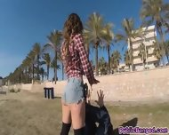 Pounding And Banging Sexy Piece Of Ass Julia Roco At The Beach - scene 2