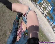 Pounding And Banging Sexy Piece Of Ass Julia Roco At The Beach - scene 3