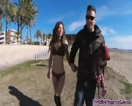 Pounding And Banging Sexy Piece Of Ass Julia Roco At The Beach - scene 6