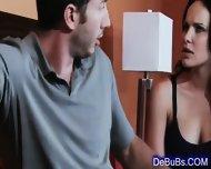 Naughty Sexy Brunette Wants His Huge Cock - scene 1