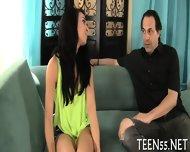 Slutty Teen Explores Mature Cock - scene 1