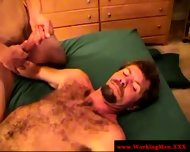 Hairy Straight Redneck Gets Cumshot - scene 11