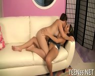 Lustful Teen Fucks With 2 Stags - scene 5