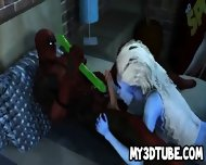 3d Babe Sucks Cock And Gets Fucked By Deadpool - scene 8