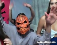 College Whore Gets Her Pussy Rammed At A Halloween Party - scene 3