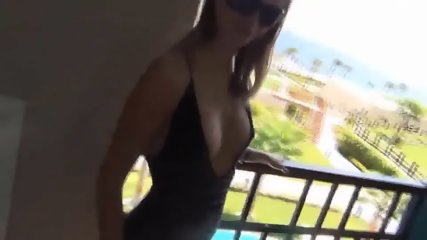 German Girl Has Anal Sex On Balcony With Cum Load - scene 1