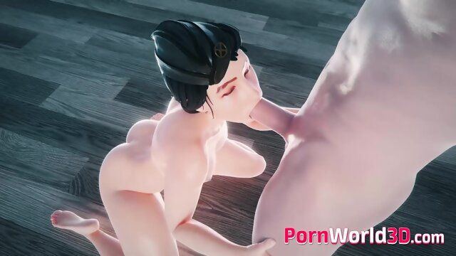 Naked Heroes with Gentle Cunt Sucked a Huge Fat Cock