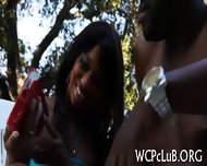 Ebony Pal Bangs White Gal - scene 2
