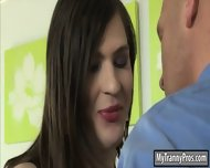 Tight Brunette Teen Tranny Stefani Special Ass Banged In Bed - scene 3