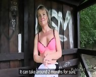 Blonde Bangs On The Bench In Park In Public - scene 3