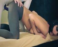 Amazing Fine Lesbians In Pantyhose - scene 10
