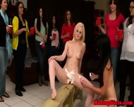 Hazed Lesbos In Public Shaving Session - scene 10