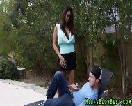 Tit Fucked Cougar Sucks - scene 1