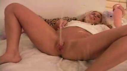 Babe pounding with big Dildo and pissing - scene 12