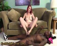 Feet Jizzed By Black Guy - scene 4