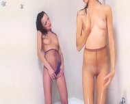 Sweaty Girlsongirls Enjoy Strap In The Shower - scene 9