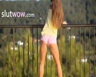 Killer Ass Stripping On The Balcony - scene 1
