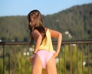 Killer Ass Stripping On The Balcony - scene 4