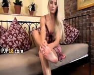 Naked Blonde With Vibrator - scene 1