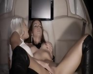 Extreme Group Loving In Limo - scene 4