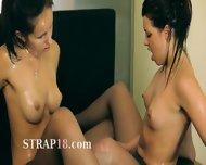 Two Sweaty Pussies In Nylon Pants On Bigbed - scene 12