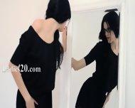 Hot 19yo Girl Teasing In Front Of Mirorr - scene 1