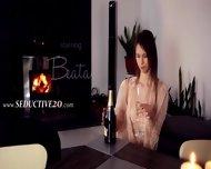 Breasty Beata Fingering Her Pussy - scene 1