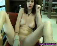 Hot Teen Girl Totally Nude At Public Library - scene 8
