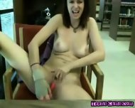 Hot Teen Girl Totally Nude At Public Library - scene 5