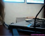 Perfect Office Girlfriend Strips And Teases At Work - scene 6