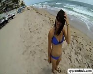 Beach Babe In Blue Bikini Got Fucked And Captured In Spy Cam - scene 2