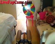 Hot Blonde Webcam Girl Rides Dildo Chair - scene 1