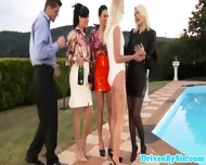 Pissing Fetish Babes Enjoy Outdoor Fuck - scene 1