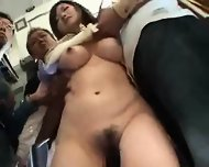 Officelady Reluctant Public Orgasm - scene 6