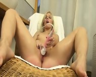 Czech Blond Opening Vagina Hole Hard - scene 6