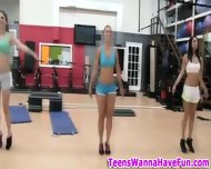 Nude Gym Party Teens - scene 1
