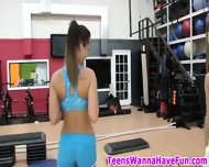 Nude Gym Party Teens - scene 3