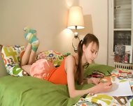 Nasty Homework Of Sweet Teenie - scene 1