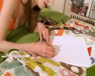 Nasty Homework Of Sweet Teenie - scene 4