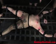 Filthy Sub Punished With Waxplay - scene 8