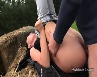 Busty Czech Babe Banging Huge Cock Outdoor - scene 11