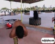 Busty Babes Kite Boarding And Jui Jitsu While Naked - scene 11
