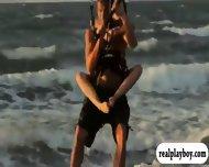 Busty Babes Kite Boarding And Jui Jitsu While Naked - scene 5